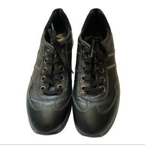 Ecco Black Leather Sneakers Size 10